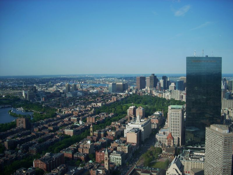Blick vom Prudential Tower in Boston