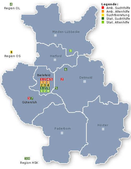Hier klicken -> Alle Einrichtungen auf einer Karte mit weiteren Informationen